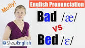 how to pronounce bad and bed bæd bed american