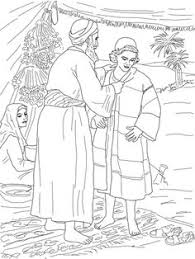 Jacob Giving Joseph The Coat Of Many Colors Coloring Page From Son Category Select 27278 Printable Crafts Cartoons Nature