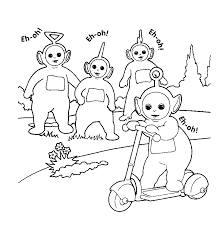Teletubbies Coloring Book Pages