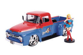 100 56 Ford Truck DC Bombshells F100 With Supergirl 124 Vehicle