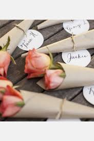 Pink Rose And Paper Place Card