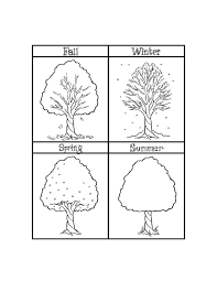 Weather Coloring Pages Seasons