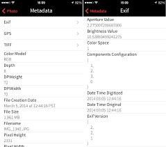 How to view iPhone photos metadata