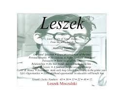 Meaning Of The Slavic Male Name Leszek Is Rustic