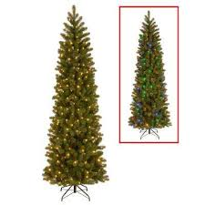 Slim Christmas Trees Prelit by 7 5 Ft Slim Led Pre Lit Christmas Trees Artificial