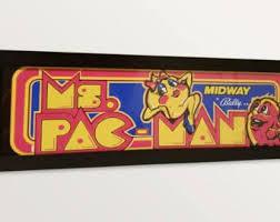 Arcade Marquee Light Box Ms Pac Man ArcadeBar