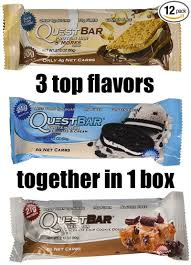 3 Top Flavors Of Quest Bars In 1 Box
