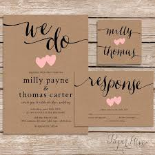 Rustic Wedding Invitation Kraft Paper By Paperhive LOVE THIS ONE Hive Studio