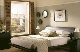 Polka Dot Pillow Cover Vintage Bedding Decor Dark Blue Wall Paint Varnished Wooden Vanity Black Bed