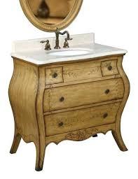 vanities french country antique style white oak bathroom vanity