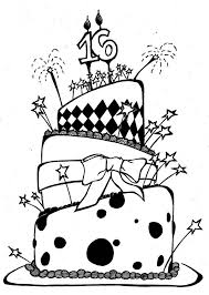 754x1060 Birthday Cake Pencil Drawing Image collections