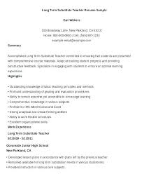Sample Substitute Teacher Resume Objective X Pixels Special Education
