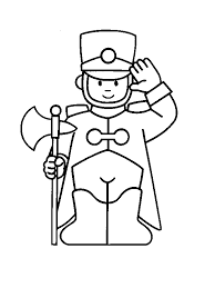 Little Soldier For Children Coloring Pages
