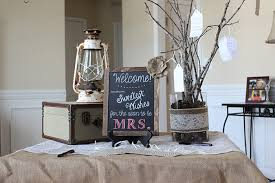 Rustic Bridal Shower Welcome Table