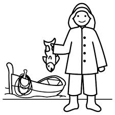 Coloring Page Fisherman Jobs 12