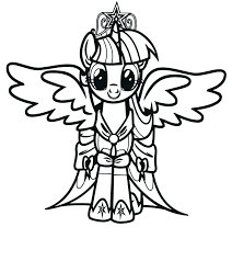 Twilight Sparkle Alicorn Coloring Pages Free My Little Pony