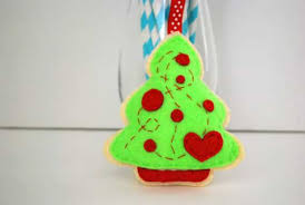 Christmas Tree Pattern Felt OrnamentSewing