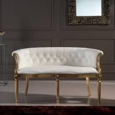 canapé italie canapé 2 places en cuir blanc classique fait en italie casanova