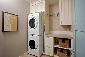 home depot stackable washer dryer laundry room traditional with