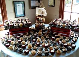 Cleveland Cupcakes Strongsville Ohio Wedding Cupcake Display