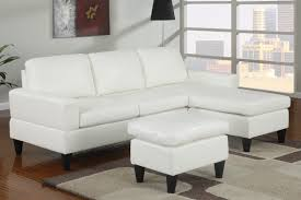 Poundex Bobkona Sectional Sofaottoman by Small Leather Sectional Sofa Bed Centerfieldbar Com