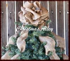 Black Angel Christmas Tree Topper by Christmas Tree Topper Burlap Tree Topper Bow Topper Burlap