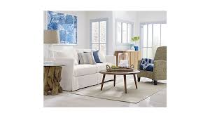 willow white apartment sofa crate and barrel