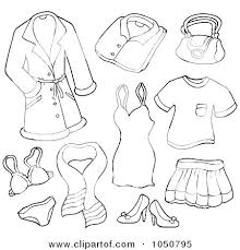 Winter Clothes Coloring Pages Clothing For Preschoolers Page