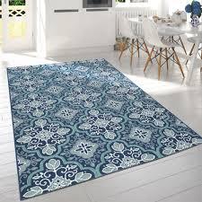 in outdoor teppich für balkon mit orient muster blau