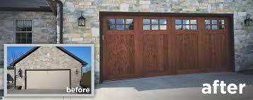 Wood Look Garage Door Door Design Ideas