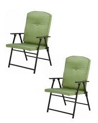 100 Mainstay Wicker Outdoor Chairs Folding Padded Green Chair Pool Deck Garden S