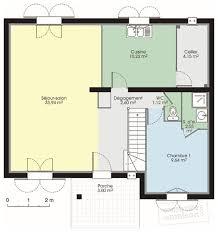 plan maison 4 chambres etage pavillon classique 1 dé du plan de pavillon classique 1