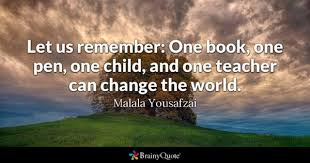 Let Us Remember One Book Pen Child And Teacher