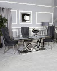 Dining Room White And Gray Marble Table Top Round Faux Set ... Chair Covers And Sashes Buzzing Events Hire Chairs Decor Target Costco Rooms Transitional Striped Ding Fashion Concepts Royals Courage Us 399 5 Offstretch Elastic Room Socks Gold Print Kitchen Tables Cover Coprisedie Fundas Para Sillasin Spandex Strech Banquet Slipcovers Wedding Party Protector Slipcover Blue Stretch Seat Stool Silver Gray Pink Tie Online Height Leather Hayden Fniture Accent Table Extra Large White Amusing