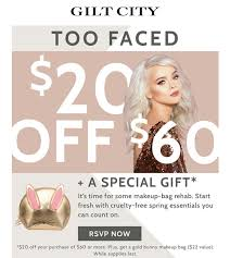 Gilt - Too Faced $20 Off $60 Purchase Voucher - Imgur Ole Hriksen 50 Off Code From Gilt Stacks With 15 Gilt City Sf Gilt City Warehouse Sale 2016 Closet Luxe Clpass Deals Sf Black Friday Coupons 2018 Promgirl Coupon Promo For Popsugar Box Sign In Shutterstock Citys Friday Sales Reveal The Nyc Talon City Chicago Promo David Baskets Not Working Triumph 800 Minimalism Co On Over Off Coupon Msa Sephora Letsmask Stoway Unburden Kitsgwp Updates
