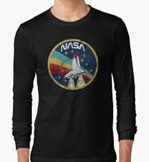 100 V01 Nasa Vintage Colors Long Sleeve TShirt Tshirts For