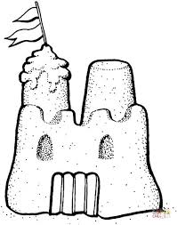 Sand Castle Coloring Pages Printable