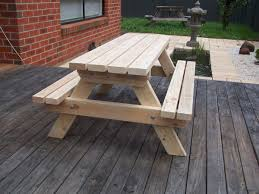 gorgeous extra long picnic table to set up for your backyard