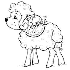 Magnolia Nativity Cling Rubber Stamp Holy Sheep Magnolia
