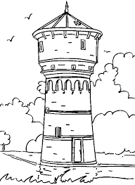 Clock Tower Coloring Page Pages