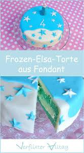 so gelingt die frozen elsa torte aus fondant für das