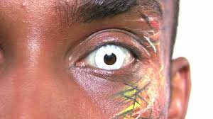 Halloween Contacts Cheap No Prescription by Whiteout Contact Lenses Block White Youtube