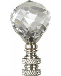 amazing deal swarovski faceted crystal ball l shade finial