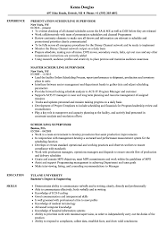 Download Scheduling Supervisor Resume Sample As Image File