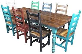 Large Size Of Style Painted Furniture Southwest Round Dining Set Tables Chairs Room Table And Mexican