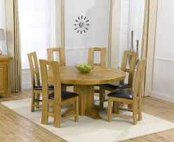 Inspirational Round Oak Dining Table And 6 87 In Rustic Room With