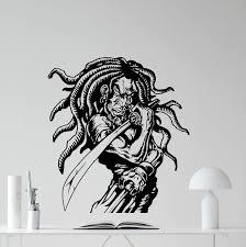 Wall Mural Decals Amazon by Amazon Com Rasta Samurai Wall Decal Rastaman Sword Ninja Warrior