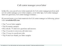 Examples Of Call Center Manager Resume And Perfect Cover