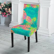 Palm Tree Beach Print Pattern Dining Chair Slip Cover