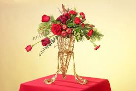 Red Apple And Flower Centerpiece